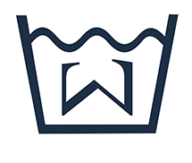 Wavesum logo dark blue, white background